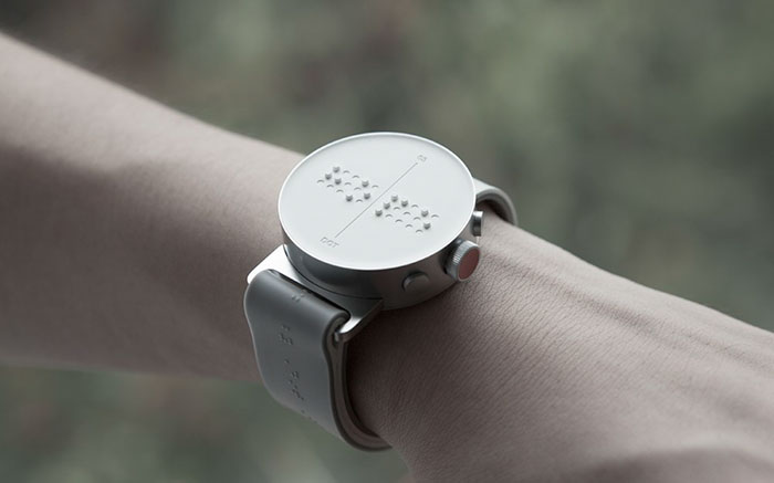 The New Braille Smartwatch Allows People To Feel Messages On The Watch's Screen!