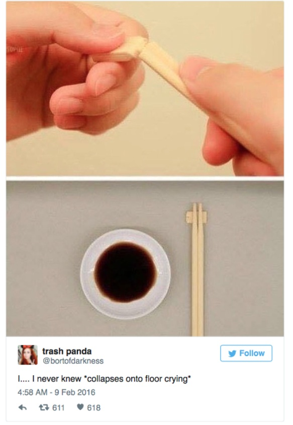 Call Yourself A Chinese Food Lover? I Can Bet On It That You Don't Know What That Little Tab Of Wood Is Used For