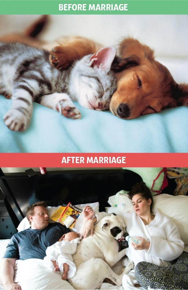 8 Pictures That Clearly Show That Life Changes A Lot After Marriage And It's Not All Fun And Ames