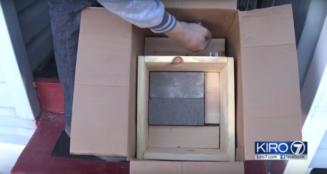 """Thieves Finally Learn Their Lesson As Man Tired Of Getting His Packages Stolen Comes Up With A """"BANGING"""" Idea….LITERALLY"""