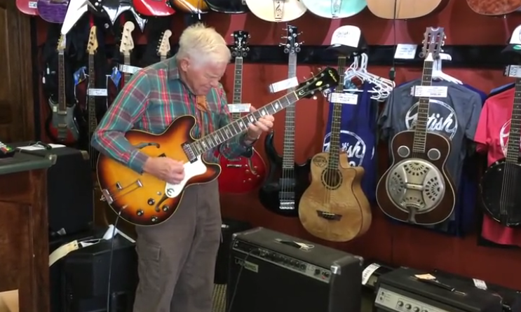 81 Year Old Picks Up A Guitar In A Shop And Unleashes His Inner Rock Star!