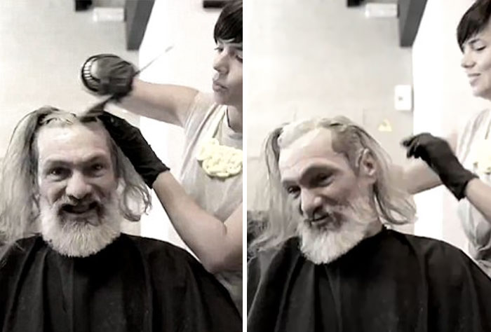A Homeless Man Was Given A Makeover. Minutes Later.. He Couldn't Even Recognize Himself!