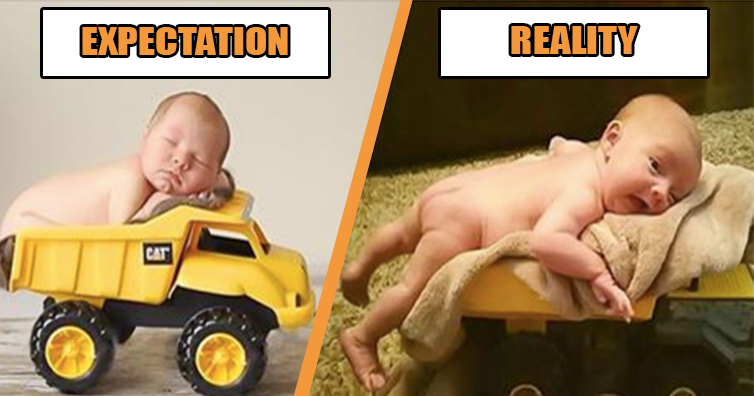 Parents Tried To Recreate Some Cute Baby Photos And Failed Badly!