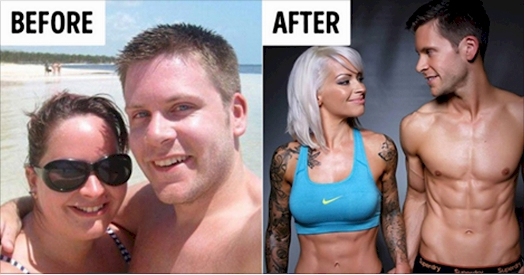 From Fat To Fit: Couple Work Together To Look Completely Different