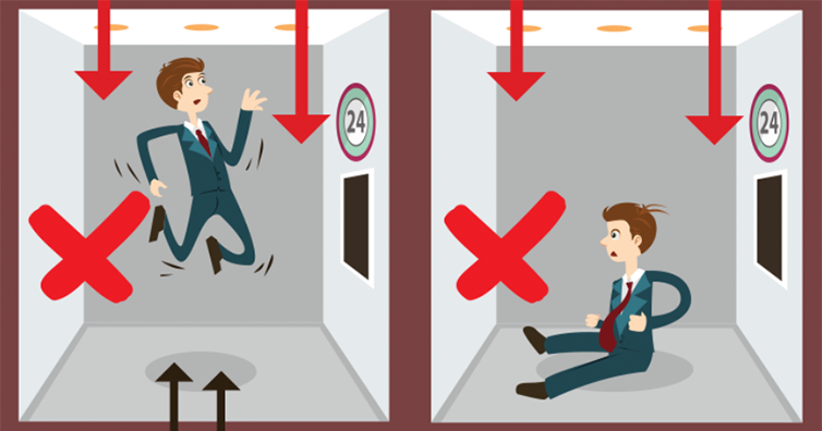 Five Tricks That Will Save Your Life If You Are Stuck In A Free Falling Elevator