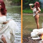 Women moves on after divorce after burning down her wedding dress!
