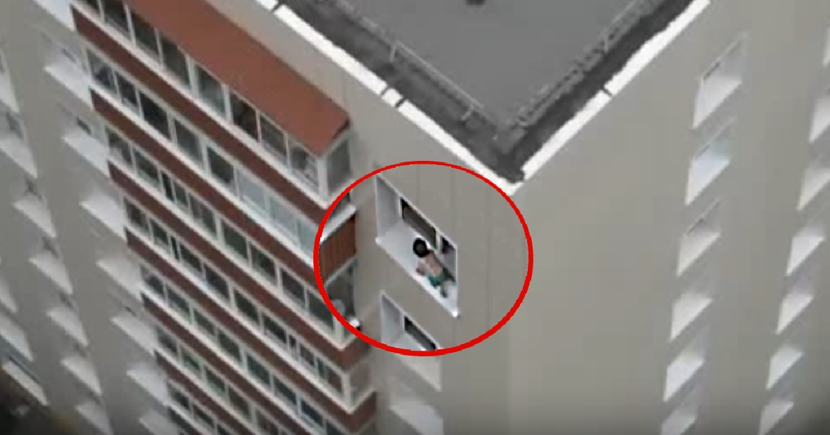 A Toddler Walking On The Window Ledge Of A High Rise Building Is Indeed A Nightmare For Every Parent!