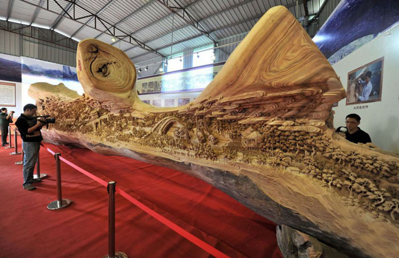 You Have To See This 40 Feet Long Wood Masterpiece!