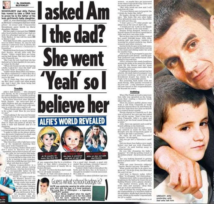A 13 Year Old Dad? Thankfully A Dna Test Proved It Wrong!