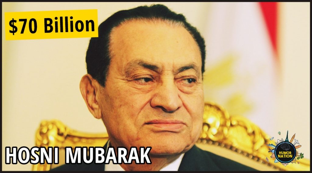hosni mubarak net worth