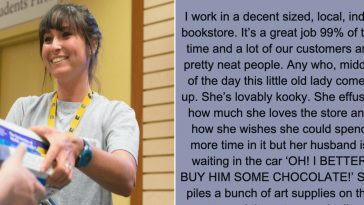 "Bookstore worker placed this on his Facebook Wall after ""little old lady"" Shocks Everyone At The Register"